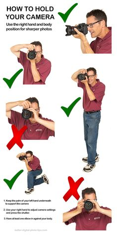 How to hold a DSLR camera camera 10 Travel Photography Tips For DSLR Beginners That Actually Work Photography Settings, Dslr Photography Tips, Photography Cheat Sheets, Photography Lessons, Photography For Beginners, Photography Equipment, Photography Backdrops, Photography Tutorials, Digital Photography