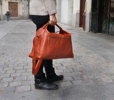 Blog / www.puntera.com Nueva bolsa Trapecio! #cuero #piel #artesanía #bag #leather #handmade