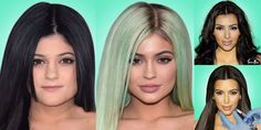 Time-lapse videos mark the Kardashians' changing face shapes