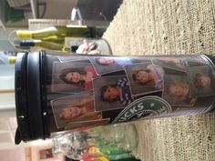 Teacher gift. Starbucks tumbler with pictures of kids from class.