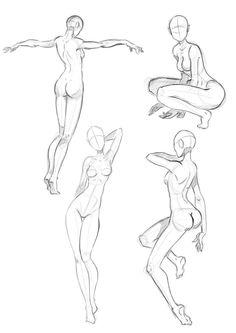 Estudio Postural 2 by davefuria on DeviantArt Human Drawing, Body Drawing, Drawing Base, Female Drawing, Body Reference Drawing, Art Reference Poses, Drawing Skills, Manga Drawing Tutorials, Art Tutorials