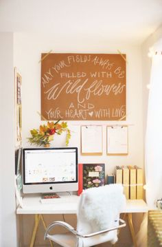 A Feminine and Modern Office Tour with the Perfect Touch of Pink - Style Me…