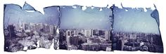 Polaroid Emulsion Lift by Lionel Muñoz, via Behance I want to try a panoramic project like this Fuji Instax, Experimental Photography, Handmade Books, Photo Tips, Film Photography, Behance, Tapestry, Creative, Artist