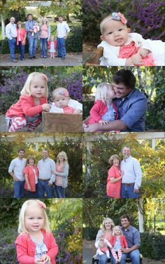 What to wear spring family photos | Pink & Gray colors for family photos | Heather Marshall Photography