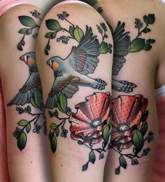 finch and poppy tattoo