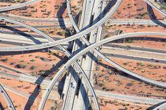Freeway Interchange Aerial Captures by Peter Andrew
