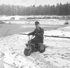 Italian Motorcycle, Volugrato Aermato, for paratroopers 1944