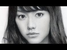 鉛筆画 桐谷美玲 完成までの一部始終 動画 早送り / Pencil drawing/ Mirei Kiritani/ Portrait/ Ho...