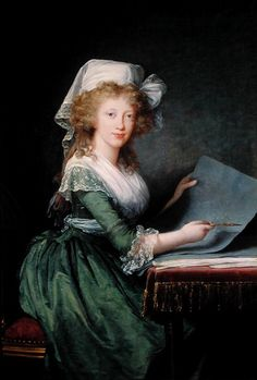 Marie Louise Elisabeth Vigée Le Brun. Marie-Louise of Bourbon-Sicily. 1790.    Oil on canvas.    Museo di Capodimonte. Napoli, Italia.