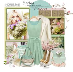 """""""Mint Spring"""" by polybaby on Polyvore"""