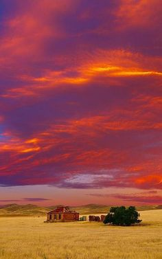 Awesome sunset in Burra, South Australia. Go to www.YourTravelVideos.com or just click on photo for home videos and much more on sites like this.