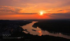 Sunset by dynax111  sky sunset light clouds Austria Hainburg Danube Sunset dynax111