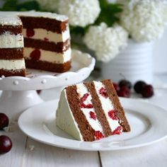 Рецепт - Шоколадный торт со свежей малиной