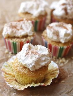 Tres Leches Cupcakes - Simply Happenstance. A Cinco De Mayo Family Favorite.  Yummy and easy to serve. #cincodemayo #tresleches #cupcakes