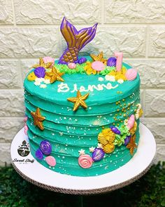 Mermaid Cakes, Birthday Cake Girls, Girl Cakes, Inspired, Desserts, Inspiration, Food, Tailgate Desserts, Biblical Inspiration