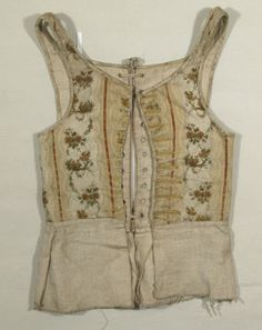 Child's bodice National Trust Inventory Number 1350449 Date1775 - 1800 MaterialsLinen, Silk, Wool CollectionSnowshill Wade Costume Collection, Gloucestershire (Accredited Museum)