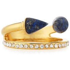 Vita Fede Ultra Mini Titan Lapis & Crystal Ring
