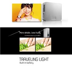 ECsee ES130 Mini DLP Projector HDMI White Green Portable Home Theater Multimedia Beamer 1080P Sale - Banggood.com
