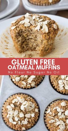 Healthy Oatmeal Muffins – Most muffins = junk food! This recipe uses no refined … Healthy Oatmeal Muffins – Most muffins = junk food! This recipe uses no refined sugar, no oil & no flour. Healthy Sweet Snacks, Healthy Muffin Recipes, Healthy Muffins, Healthy Desserts, Gourmet Recipes, Healthy Food, Healthy Eating, Snacks Recipes, Healthy Kids
