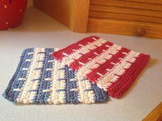 Crochet Dishcloths Set of 2 You Choose Colors by SarahRuthCrochet, $7.00