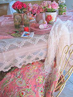 Vintageandart: Pretty In Pink.