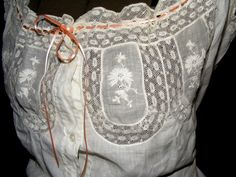 Antique Lace Beautiful Embroidered Victorian by RecyclingTheBlues