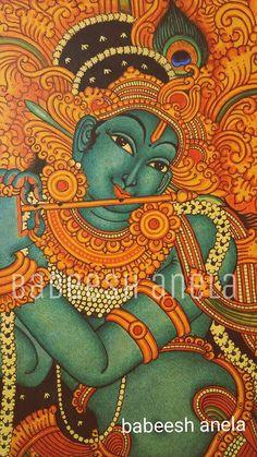 Fabric Canvas Art, Diy Canvas Art, Kalamkari Painting, Madhubani Painting, Phad Painting, Kerala Mural Painting, Canvas Art Projects, Symbolic Art, Mural Wall Art