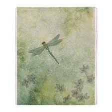 StephanieAM Dragonfly Throw Blanket for