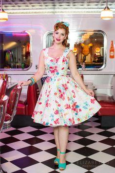 Vintage style dresses   pinup dresses   swing dresses
