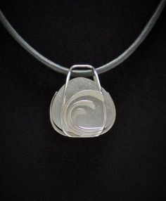 Sea Glass Jewelry - Sterling Caged Reversible White Sea Glass Necklace by SignetureLine on Etsy