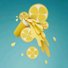 荷兰艺术家 Adrian Woods & Gidi van Maarseveen 纸艺摄影作品 : 柠檬水 Lemonade