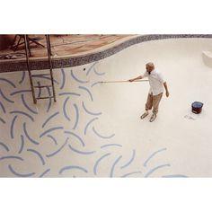 David Hockney painting the pool   #inspiration