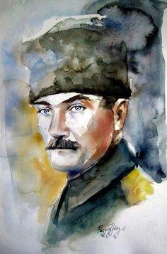 Mustafa Kemal Atatürk Republic Of Turkey, Turkish Army, Fathers Love, Great Leaders, World Peace, The Turk, Figure Drawing, Art Drawings, Drawing Art