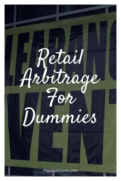 So what is retail arbitrage? It& about finding and buying new things within a retail store and then selling it for profit. Buy low and sell high. Make More Money, Extra Money, Make Money Online, Ebay Selling Tips, Selling Online, Online Garage Sale, Retail Arbitrage, Amazon Online, Amazon Fba