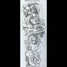 Half Sleeve Tattoos Forearm, Half Sleeve Tattoos For Guys, Forearm Sleeve Tattoos, Upper Arm Tattoos, Half Sleeve Tattoo Stencils, Half Sleeve Tattoos Drawings, Chicano Art Tattoos, Dope Tattoos, Body Art Tattoos