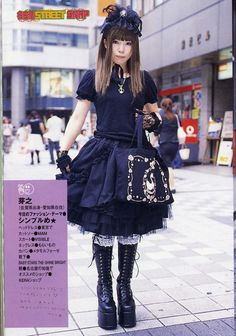 A gothic lolita in Japan