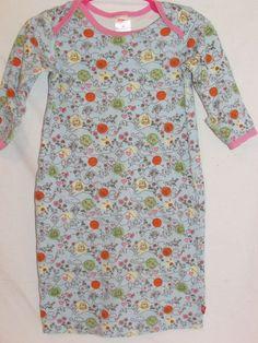ZUTANO Girls 9M Infant Sleep Gown Owls Chicks Blue Pink 100% Organic Cotton #Zutano #Everyday