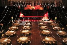 another view of string lights used for ceiling drape Gala Dinner Events :: Decorative Events & Exhibitions Wedding Floor Plan, Aviation Wedding, Uplighting Wedding, Ceiling Draping, Hollywood Theme, Gala Dinner, Event Lighting, Event Styling, Event Decor