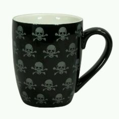 Ceramic Mugs Set of 4 - Black Skull : Target Skull Decor, Skull Art, Black Skulls, Gothic House, Skull And Crossbones, Skull And Bones, Ceramic Mugs, Mugs Set, Coffee Cups