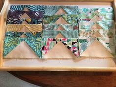 Here are my flying geese for the Summer Solstice 2016 quilt with Melissa from Happy Quilting.