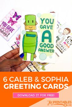 Caleb & Sophia Greeting Cards | JW Printables