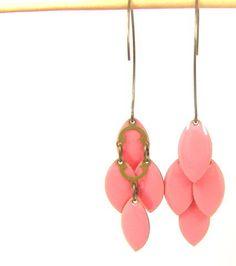 Boucles d'oreilles grappes de navettes - perles à tout-va
