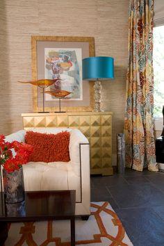 turquoise and orange...House of Turquoise: O Interior Design