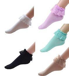 New Ankle Lace Frilly Socks Ladies 50/'s Vintage Girls Socks Dance School Socks