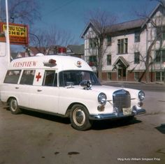 1969 white Canadian Mercedes Benz ambulance