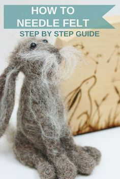 How To Needle Felt With Lincolnshire Fenn Crafts – How to needle felt for beginners onward. Full of needle felting ideas, advice, tips, tutorials and tea, lots of Yorkshire Tea! Needle Felting Kits, Needle Felting Tutorials, Needle Felted Animals, Wet Felting, Felt Animals, Baby Animals, Easy Felt Crafts, Felt Diy, Felt Dolls