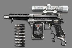 Hammer Thorn – Mauser C96 inspired anti-Vampire gun