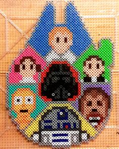 Star Wars characters perler beads by alexx213
