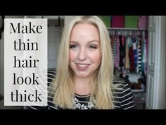 How to Make thin hair look thick -10 tips - YouTube