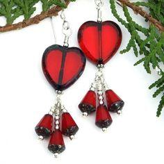 Handmade Valentine's Day Jewelry by Shadow Dog Designs #LallaGatta via @LallaGatta